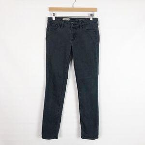 AG Gray Stilt Roll-up Cigarette Skinny Jeans